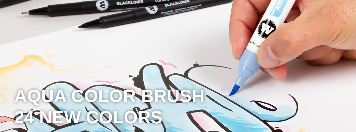 Aqua Color Brush new  colors