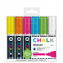 Sada fixiek Chalk  Neon-Set (4-8 mm)