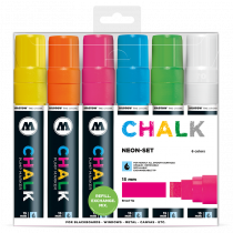 Sada fixiek Chalk  Neon-Set (15 mm)