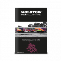 """MOLOTOW™ TRAIN HALL OF FAME Poster Collection #18 """"MR. CENZ"""""""